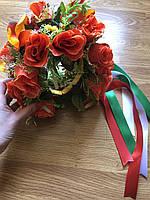 """Венок на голову """"Багровые цветы"""", фото 1"""