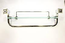 Полка на 2-а отверстия 350 мм ( Одно стекло и держатель полотенца ) ПС601, фото 3