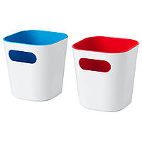 ГЕССАН Органайзер для ванной, 2 шт., белый, 10x10x10 см, 10371825, ИКЕА, IKEA, GESSAN