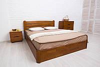 Двуспальная кровать из бука София V с подъемным механизмом ТМ Олимп