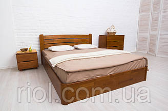 Двоспальне ліжко з бука Софія V з підйомним механізмом ТМ Олімп