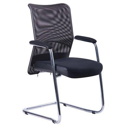 Кресло Аэро CF хром сиденье сетка Черная, Неаполь N-20/Спинка сетка черная TM AMF, фото 2
