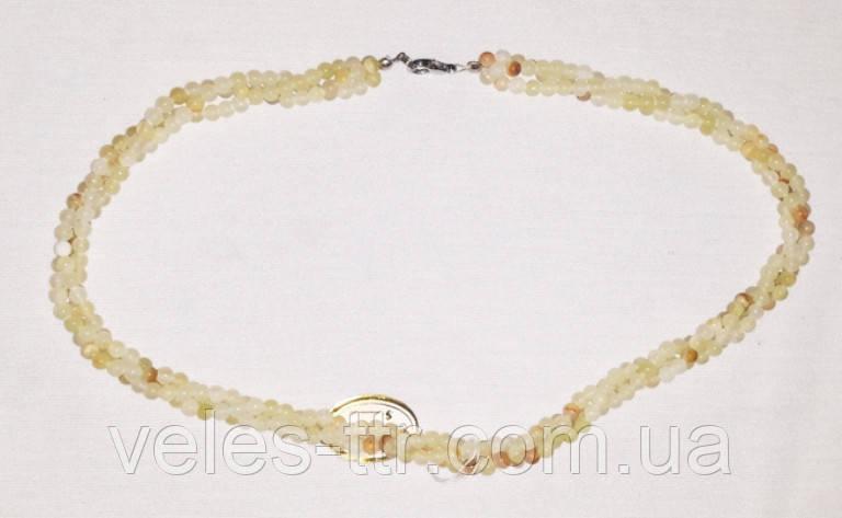 Бусы Оникс белый жгут 4 мм 49 см