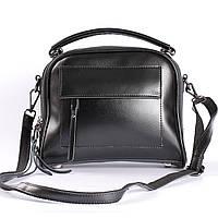 """Женская кожаная сумка черная """"Элизавет Black"""""""