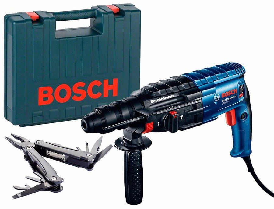 Перфоратор Bosch GBH 240 F + Swiss Peak Multitool (0615990L0D)