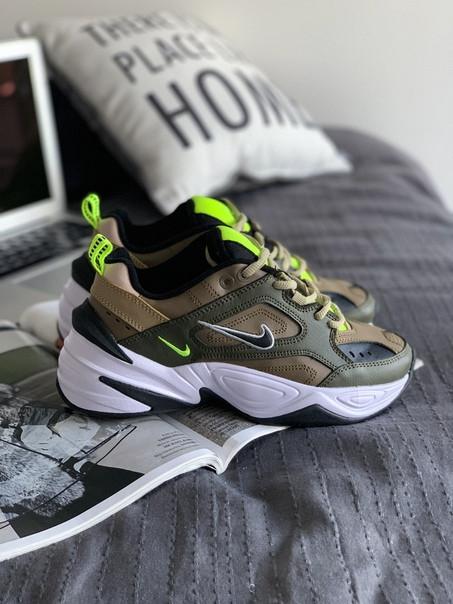 0a0f363d3e044 Женские кроссовки Nike Wmns M2K Tekno (Medium Olive/Black), Реплика -  Интернет