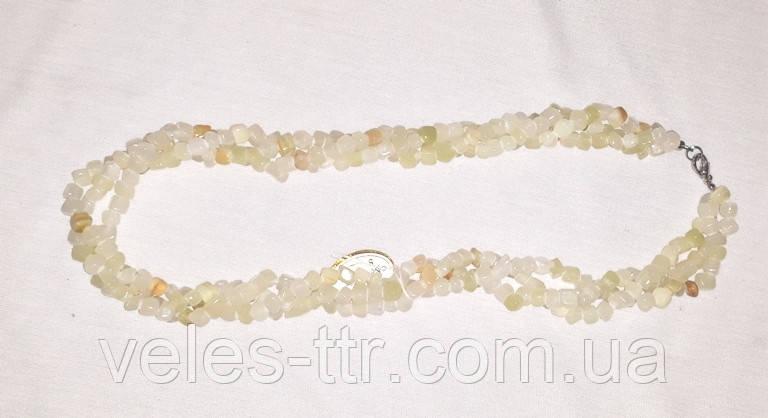 Бусы Оникс белый жгут кубик 53 см