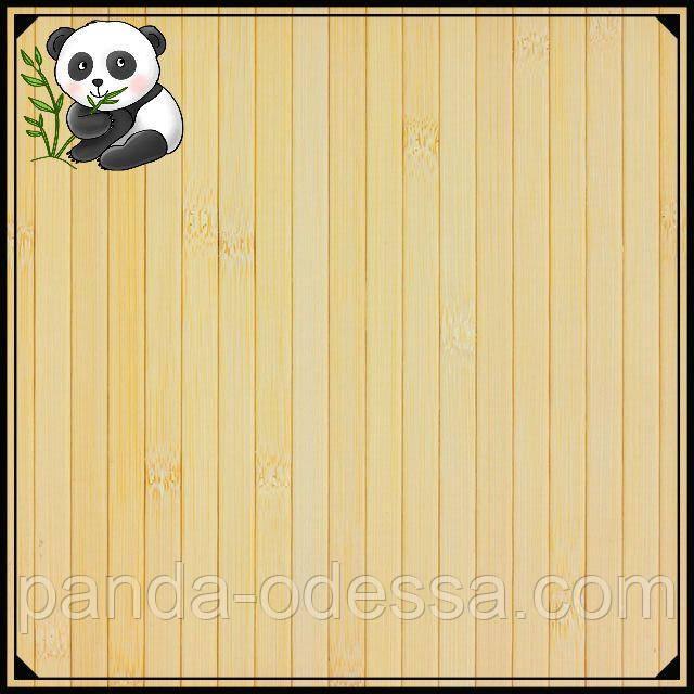 Бамбуковые обои светлые, 0,9 м, ширина планки 12 мм / Бамбукові шпалери