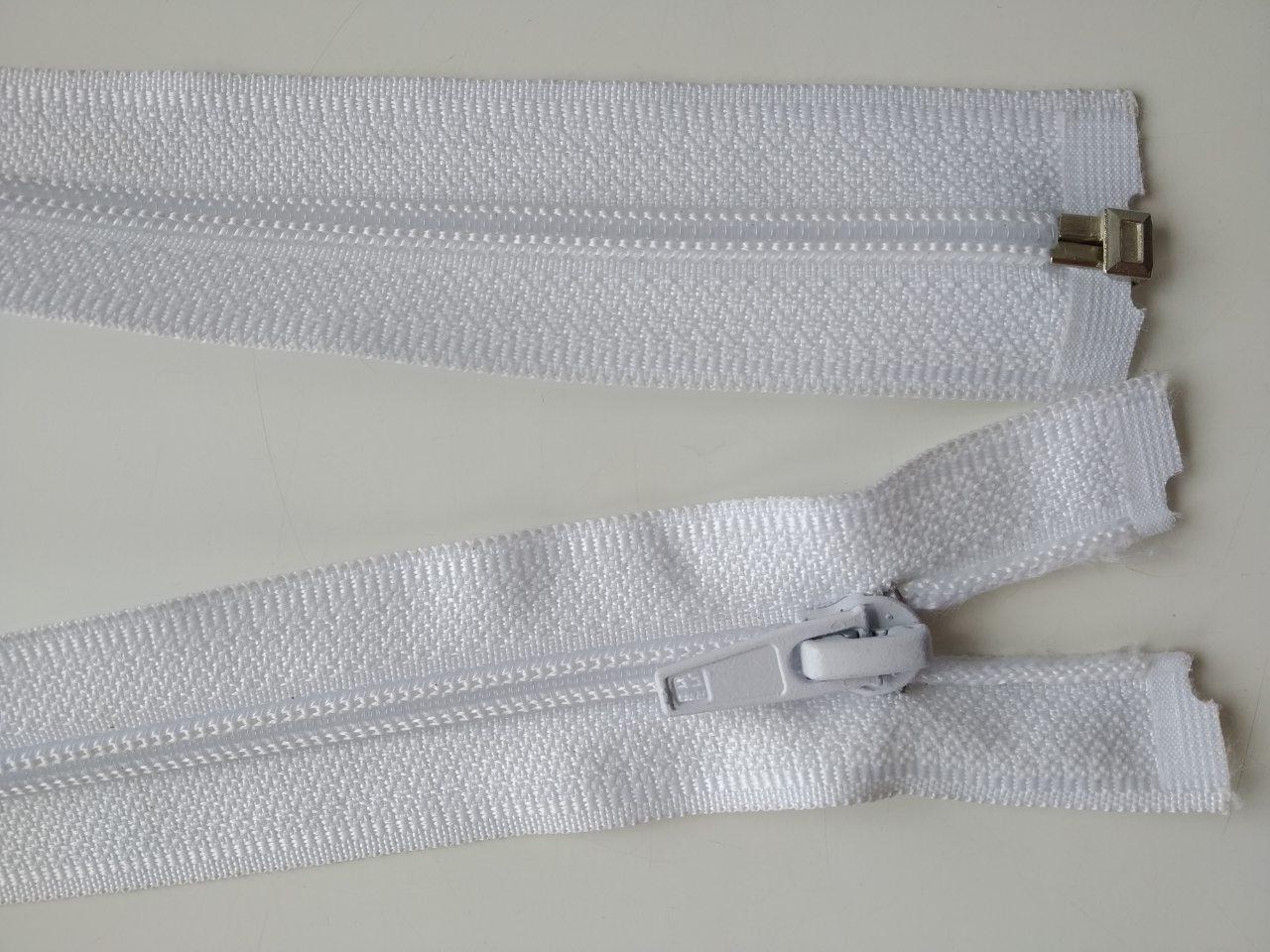 Застібка спіраль з одним бігунком 50см колір білий
