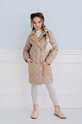 Детское стеганное пальто