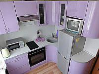 """Сиреневая кухня из пластика """"Пласт арт.48"""""""