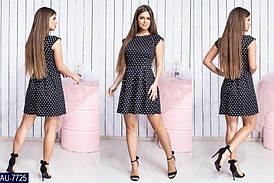 Платье женское летнее коттон, принт горох. Размеры S, M, L, XL