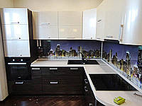 "Кухня ""Пласт арт.47"" из пластика черно-белого цвета"