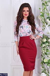 Платье женское приталенное, имитация костюма. Расцветки, размеры 42, 44, 46 Есть замеры