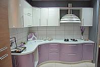 """Радиусная кухня """"Блеск арт.10"""" с модулями """"Волной"""""""
