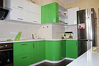 """Угловая кухня из эмали """"Блеск арт.12"""""""