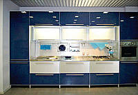 """Кухня в стиле хай-тек """"Пласт арт.32"""" из синего пластика"""