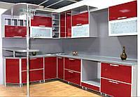 "Кухня из красного глянцевого пластика ""Пласт арт.19"""