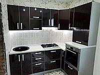 """Черная кухня из пластика """"Пласт арт.46"""""""