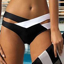 Оригинальный стильный купальник Черно-Белый, фото 2
