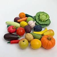 Набір фігурок із полімерної глини «Фруктово-овочевий мікс», фото 1