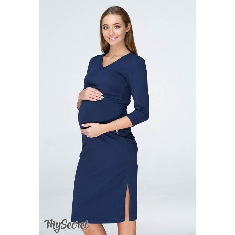 Платье для беременных и кормящих Pam ЮЛА МАМА (тёмно-синий, размер XS)