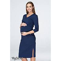 Платье для беременных и кормящих Pam ЮЛА МАМА (тёмно-синий, размер XS), фото 1
