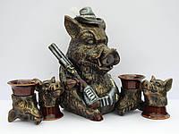 Водочный набор Кабан охотник
