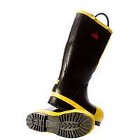 """Вогнестійкі гумові пожежні чоботи Black Diamond 16"""". Великобританія, оригінал."""