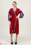 Праздничное женское платье  с вышивкой на запах, фото 4
