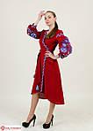 Праздничное женское платье  с вышивкой на запах, фото 3
