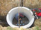 Кільця  бетонні КС10.9 каналізаційні АРМОВАНІ  1 метр, фото 3