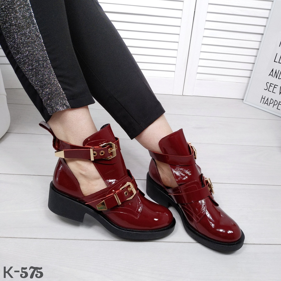 Кожаные демисезонные ботиночки в стиле Diezzzl