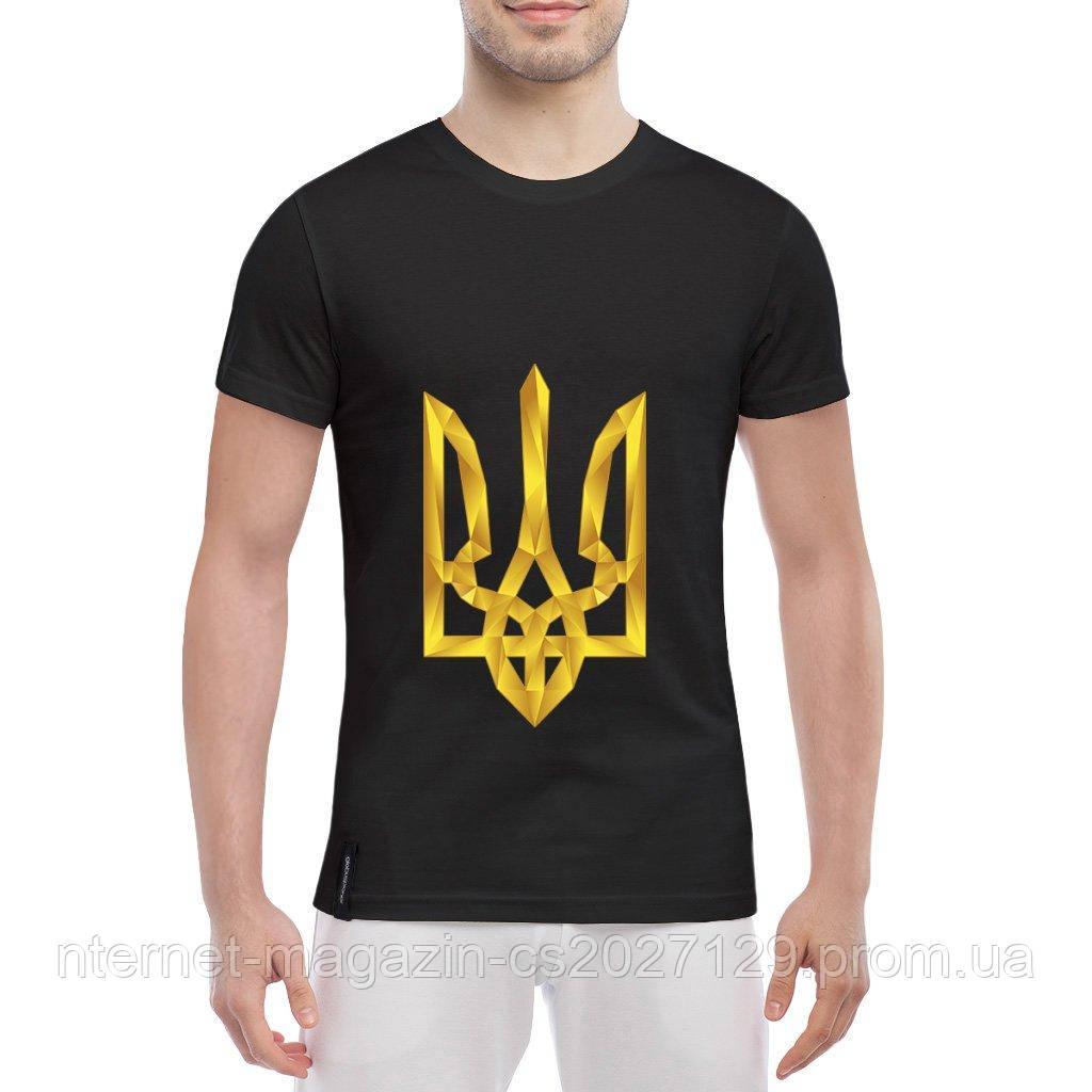 Футболка с тризубом (Герб Украины золотой)
