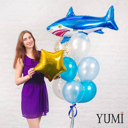 Связка из воздушных шариков в морском стиле, фото 2
