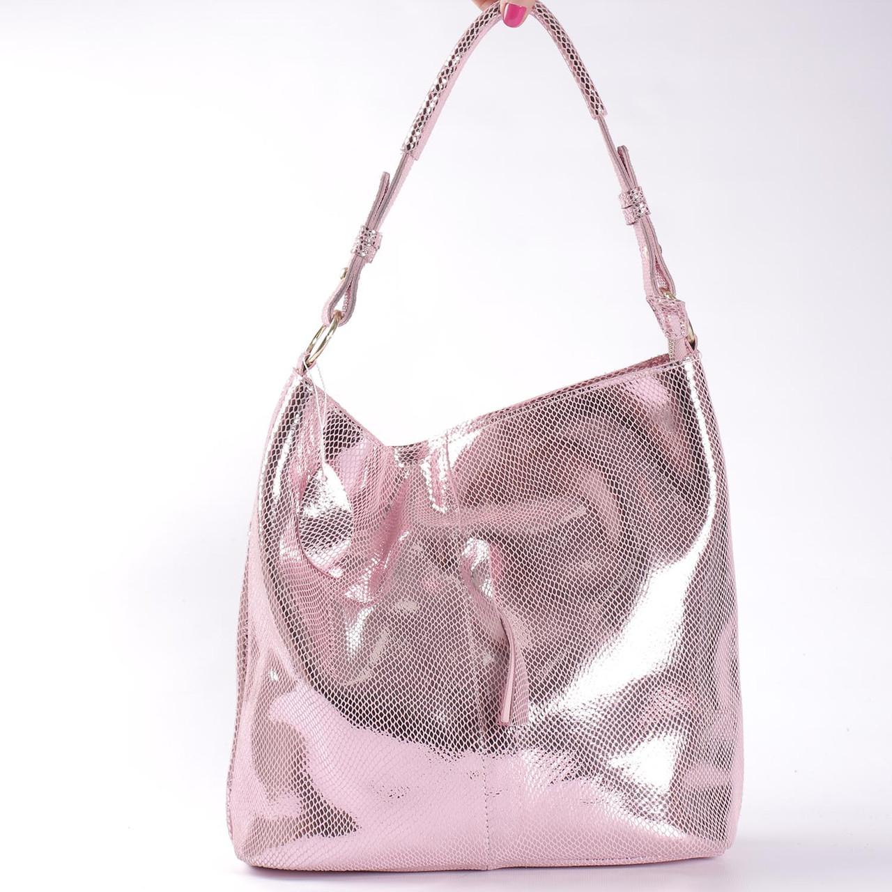 e5714ef43f9b Женская кожаная сумка розовая