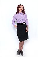 Рубашка  женская фиолетовая  / рубашка жіноча бузкова