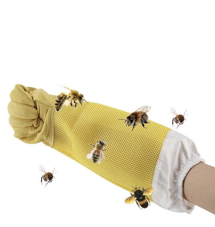 Перчатки пчеловода ( кожа +сетка) XL
