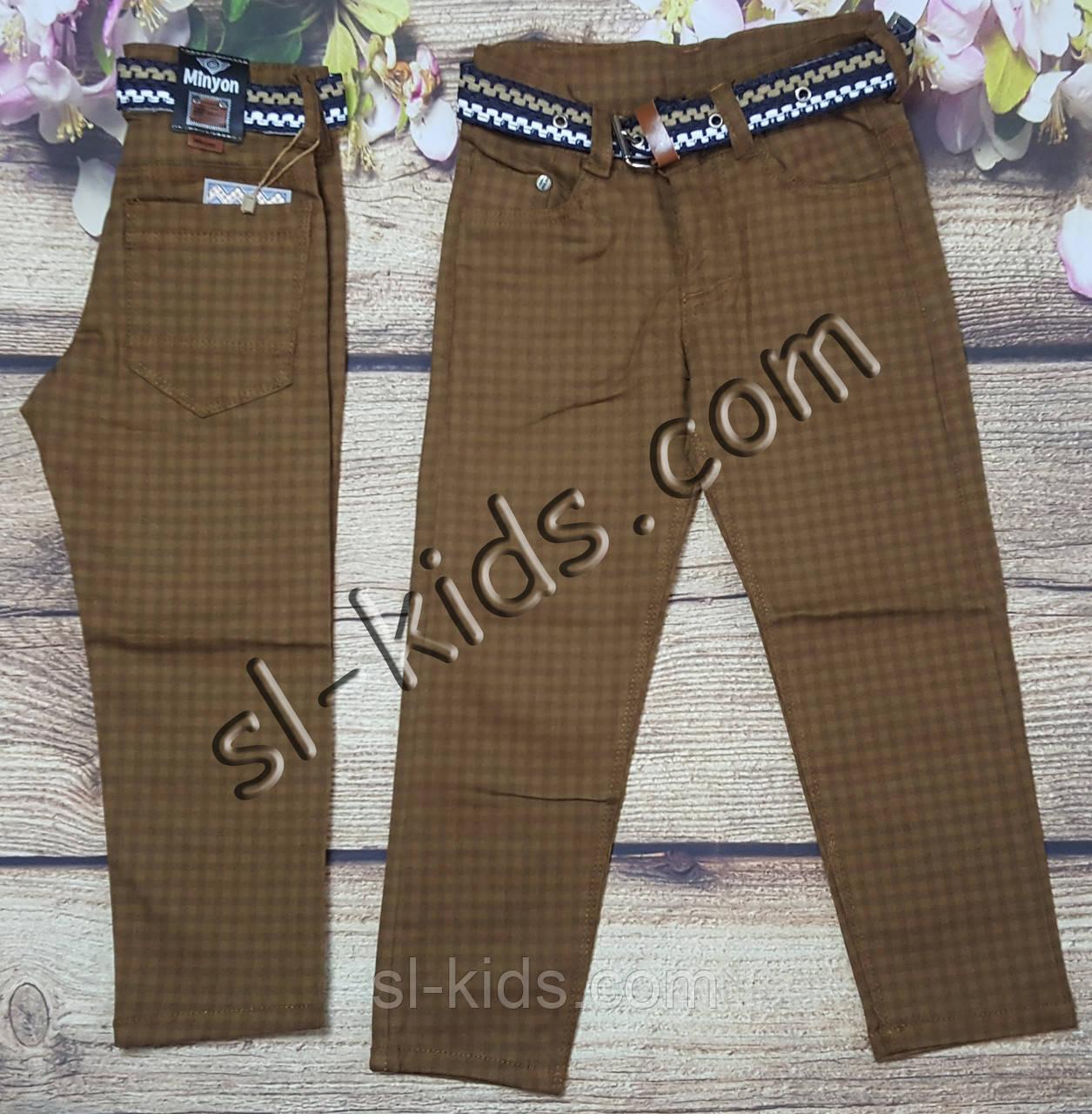 Яскраві штани,джинси для хлопчика 3-7 років(клітка коричневі) опт пр. Туреччина