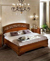 Итальянская кровать Torriani (Ториани) орех с резным изголовьем 1,6х2 м от Camelgroup