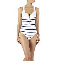 Элегантный стильный купальник Монокини в полоску XL, фото 2