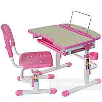 Детская парта со стульчиком парта-трансформер FunDesk Sorriso, розовый