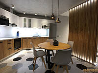 Стол Loft L-205, д. 1000мм, ясень или дуб, мебель лофт