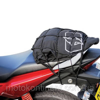 OX663 Сетка крепежная 30x30 черная для мотоциклов и скутеров Oxford