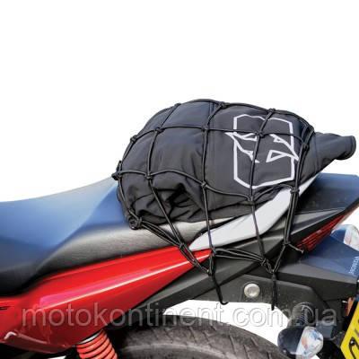OX663 Сетка крепежная 30x30 черная для мотоциклов и скутеров Oxford, фото 2