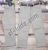 Яркие штаны,джинсы для мальчика 8-12 лет(клетка бежевые) опт пр.Турция