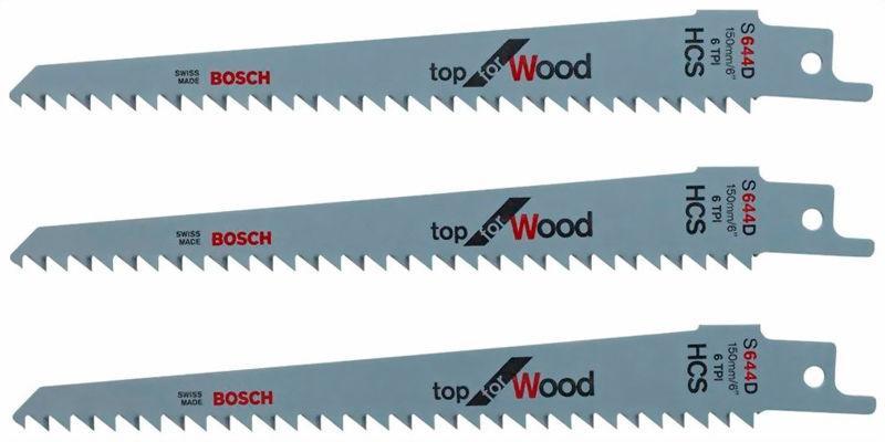 Пиляльне полотно Bosch для садових пилки Keo, 3 шт (F016800303)