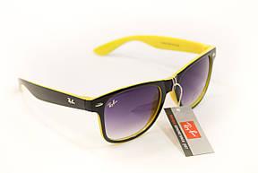 Очки wayfarer черный+желтый 7728-8, фото 2