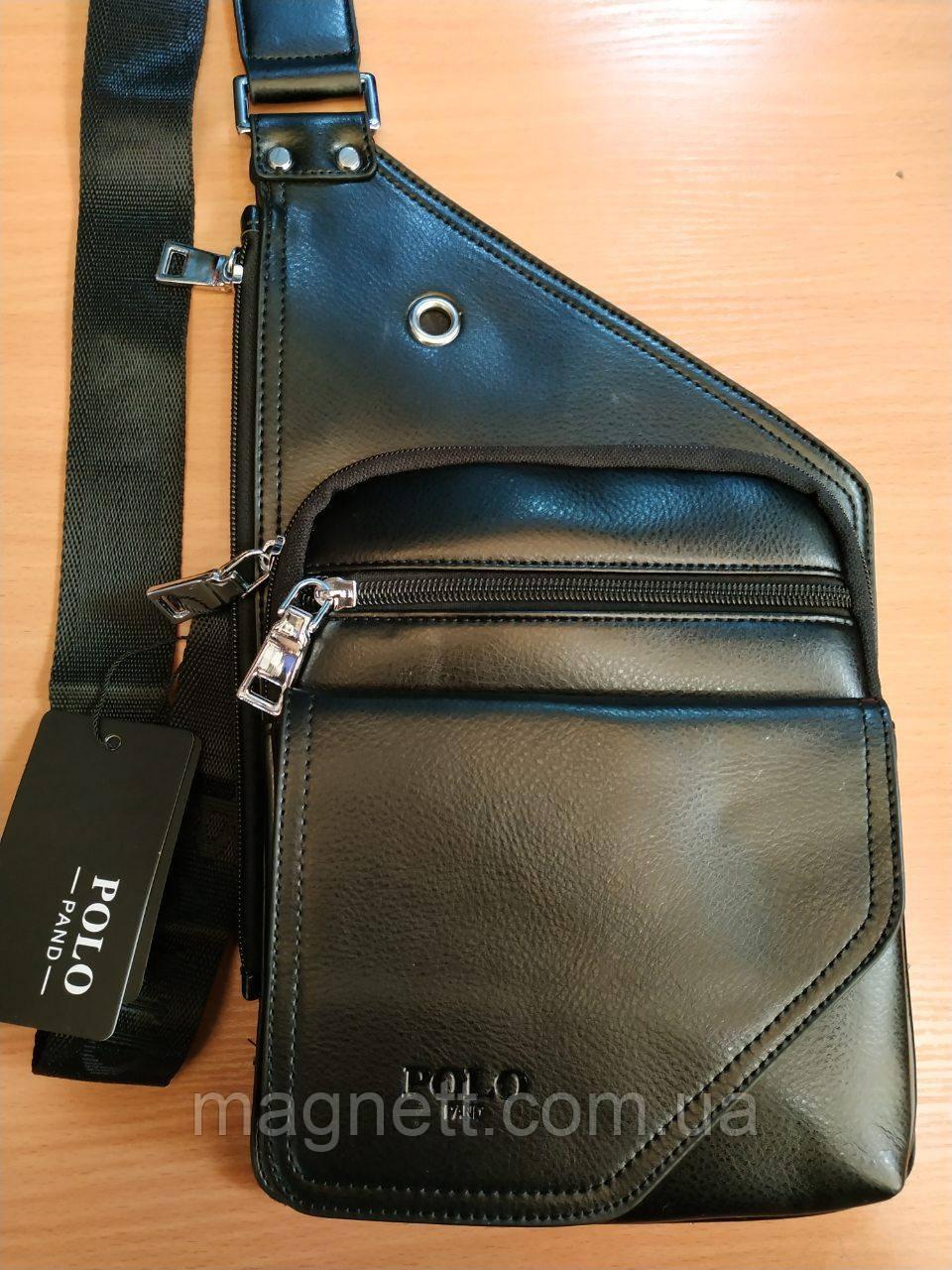 Стильная мужская сумка Polo через плечо