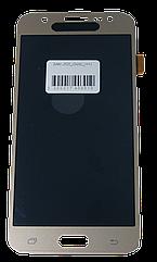 Экран + сенсор (модуль) для Samsung Galaxy J5 (2015) (J500)   золотистый